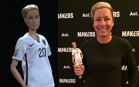Nieuwste barbie is lesbische voetbalster