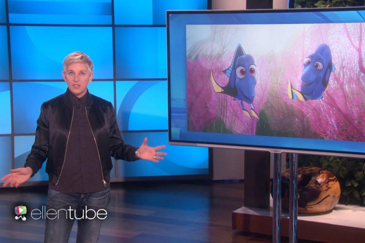 Ellen legt uit wat er mis is met Trumps 'moslim-ban'. Met hulp van Finding Dory