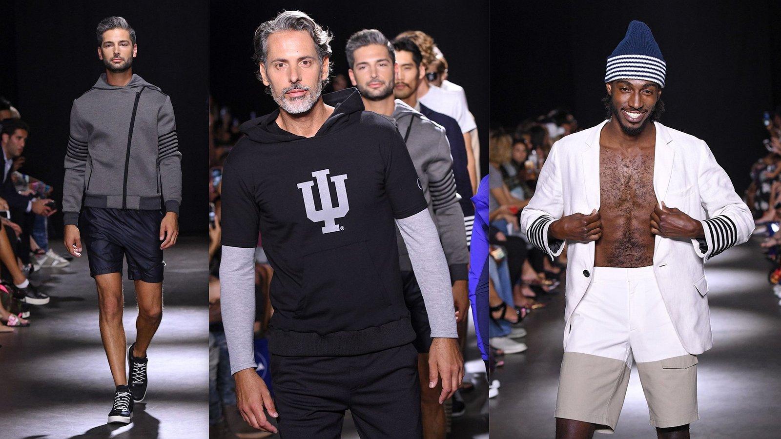Foto's: daddy's en andere modellen op de catwalk voor modemerk