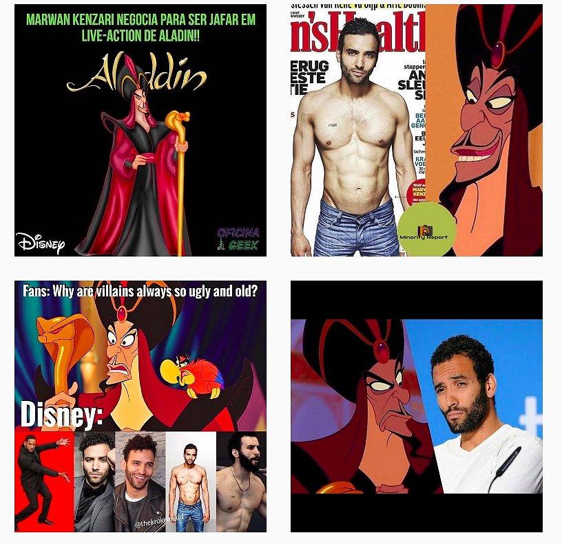 Hot op Instagram: de nieuwe Aladdin-schurk, Marwan Kenzari