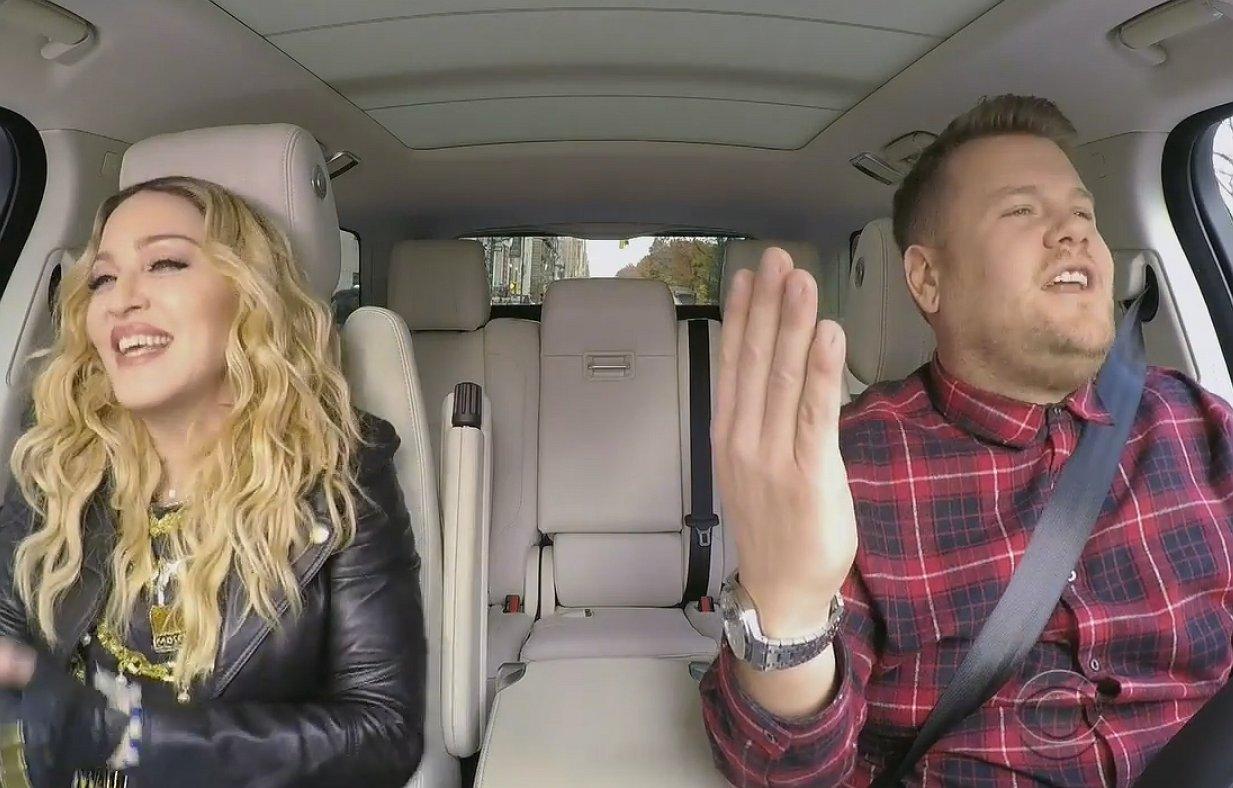 Daar is-ie dan: Madonna's Carpool Karaoke