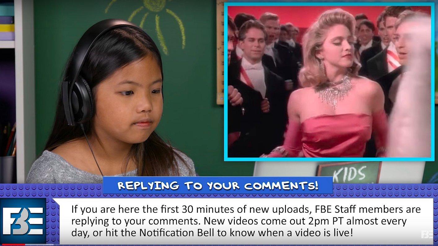 Kinderen kijken naar Madonna: 'Was dit Lady Gaga toen ze jong was?'