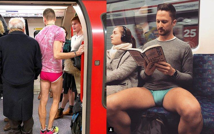 Het was weer 'in de metro zonder broek-dag'. Hier de beelden!