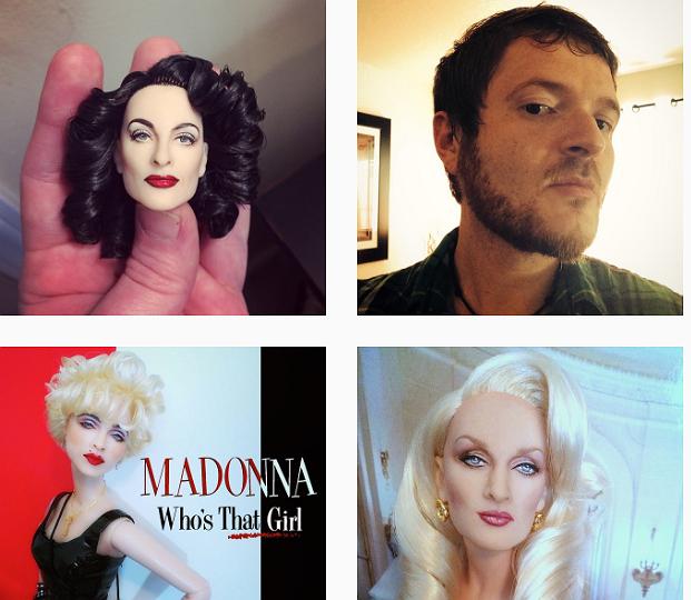 Foto's: deze kunstenaar maakt prachtige poppen van Patsy & Edina, Madonna, Bette Midler en meer