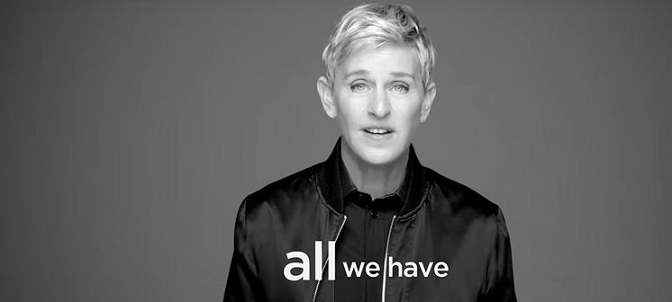 Ellen DeGeneres probeert de wereld wat liever te maken