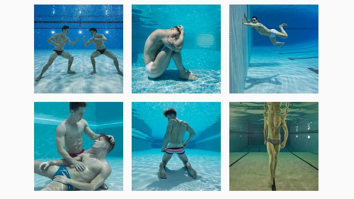 Foto's kijken: fraaie onderwaterkiekjes van nog fraaiere mannen