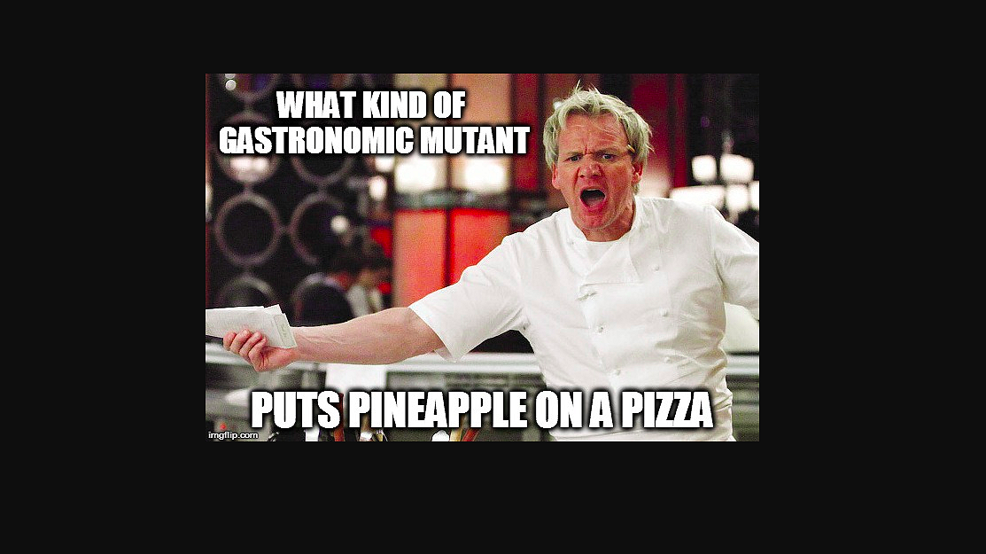 Nee zeggen mag….. tegen ananas op pizza!