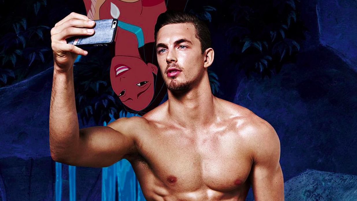 Foto's: hunks en Disney-typjes gecombineerd in sexy collages