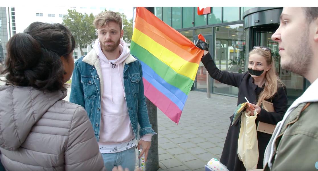 Tim Hofman brengt de regenboog naar Hogeschool Rotterdam