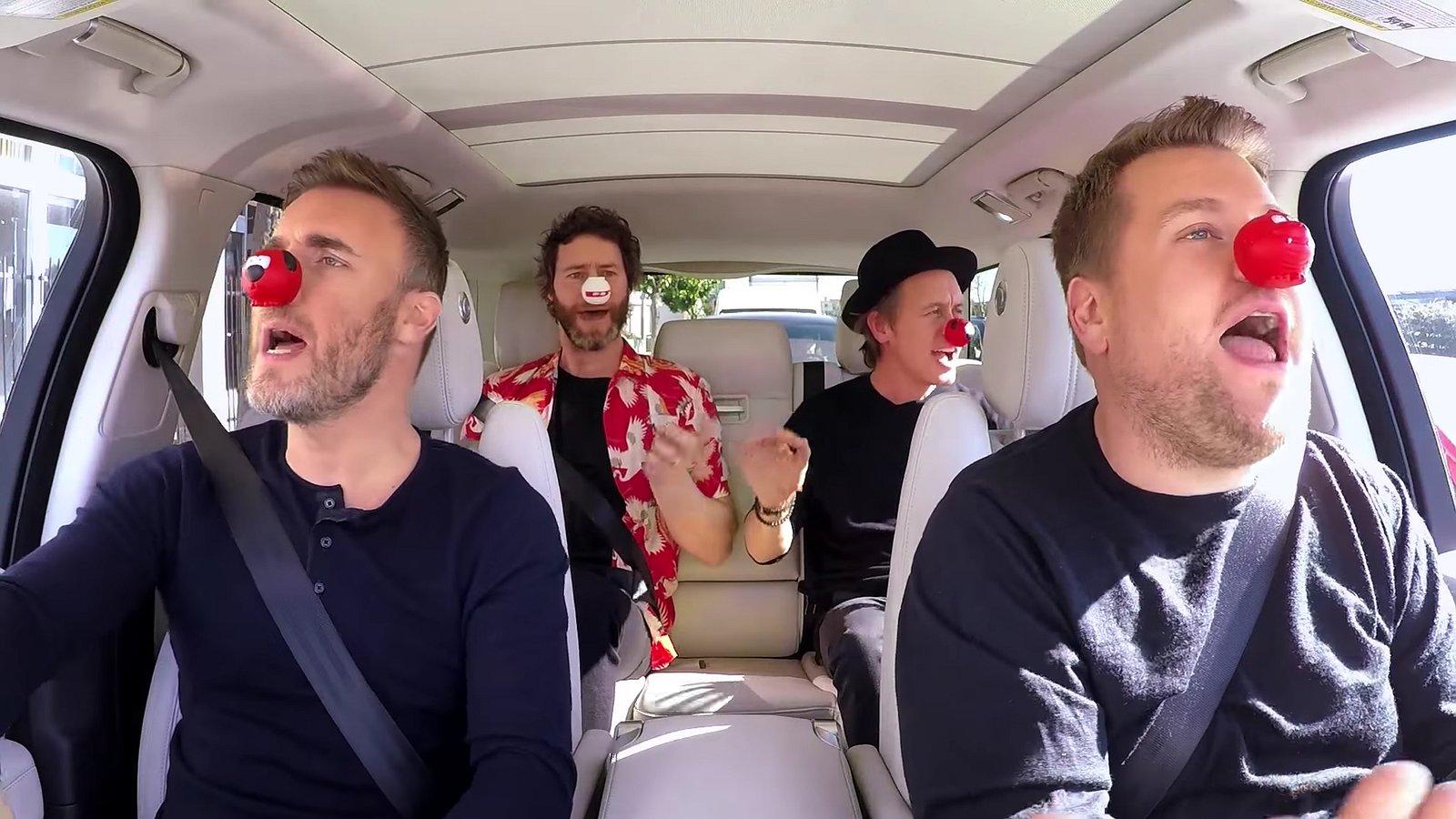 Lachen: Carpool Karaoke met Take That