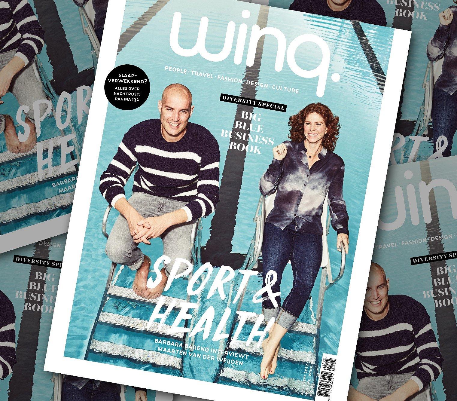 De nieuwe editie van Winq: Sport, Health, Business en alles over Gay Pride
