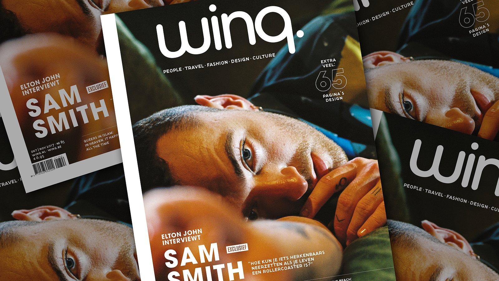 In de nieuwe Winq: Sam Smith praat met Elton John, mannen over ouder worden en nog veel meer!