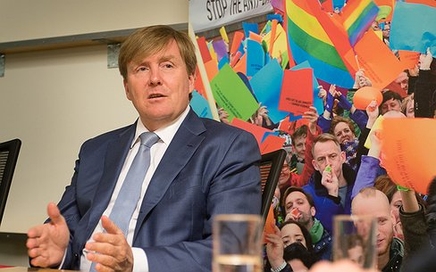Reportage: Koninklijk bezoek bij COC Nederland