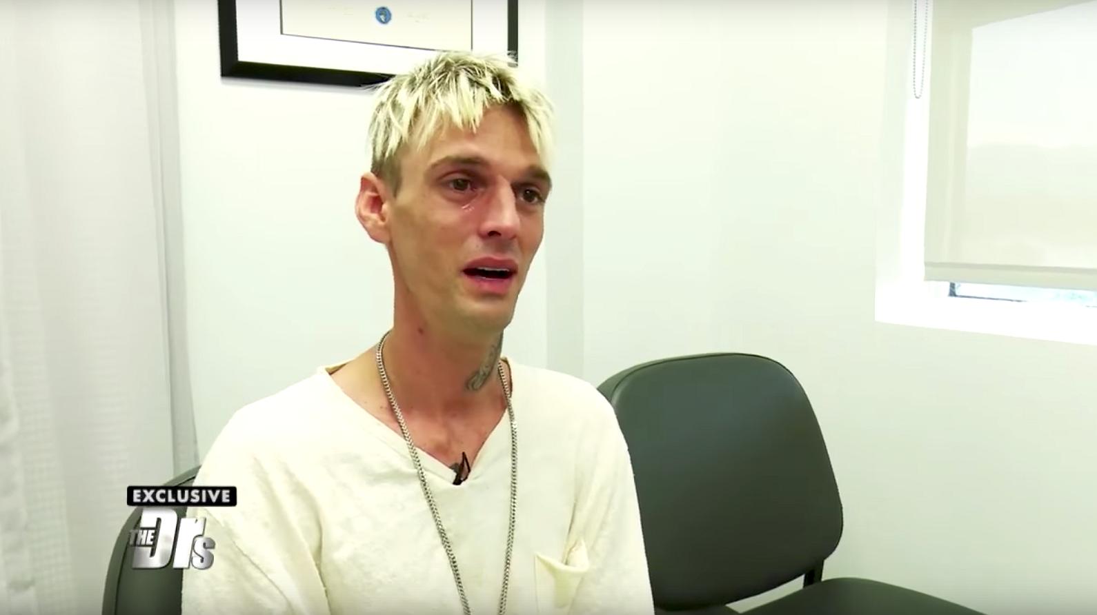 Aaron Carter laat zich op tv testen op hiv
