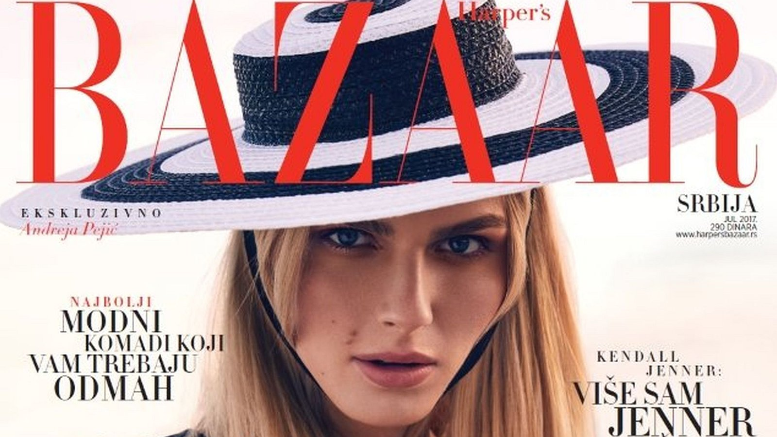 Transgender model op de cover van Servisch fashionblad