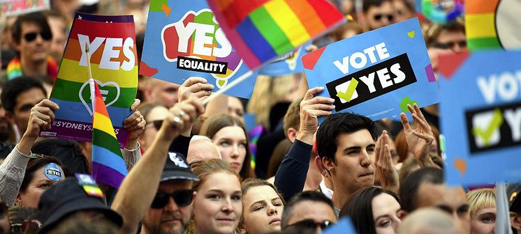 Australische homokoppels mogen trouwen!