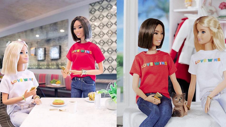 Barbie steunt homo's