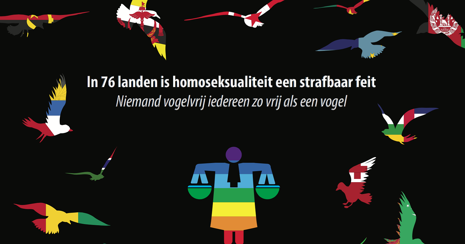De Togaboot telt 13 opvarenden uit landen waar homo zijn strafbaar is