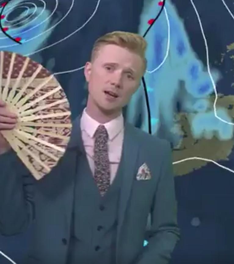 Videosnack | Deze weerman kan zo meedoen aan RuPaul's Drag Race