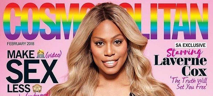 Laverne Cox is de eerste transvrouw op de cover van Cosmopolitan