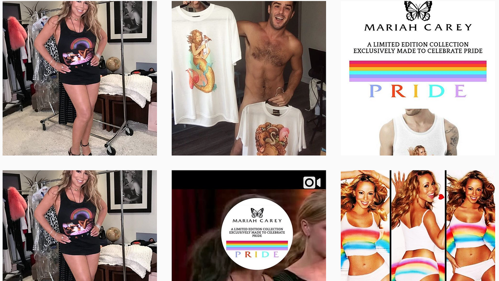 Mariah Carey komt met Pride-kledinglijn