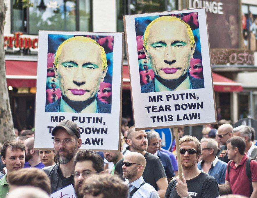Geen plaats voor Russische anti-homopropagandawet in Europa