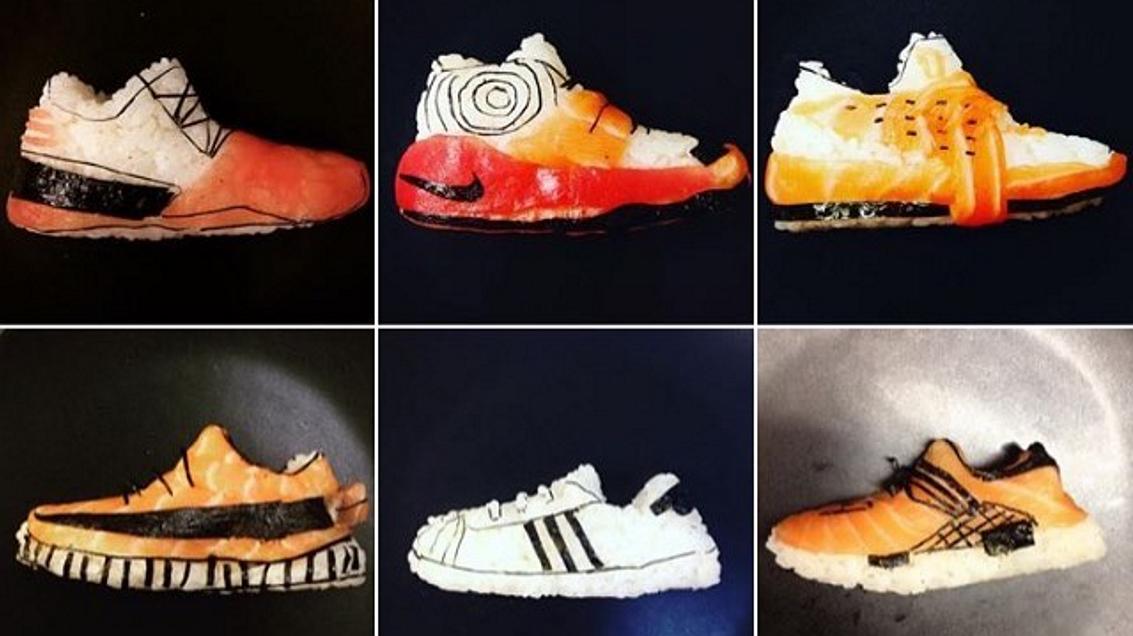 Deze schoenen zijn gemaakt van sushi. En zien er nog lekker uit ook
